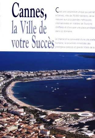 Brochure Palais des Festivals Cannes