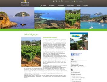 Site internet Bormes les Mimosas