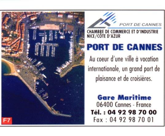 Publicité CCI Port de Cannes